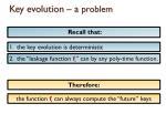key evolution a problem