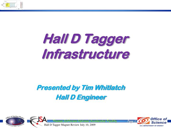 hall d tagger infrastructure n.