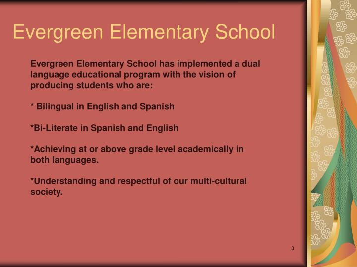 Evergreen elementary school1