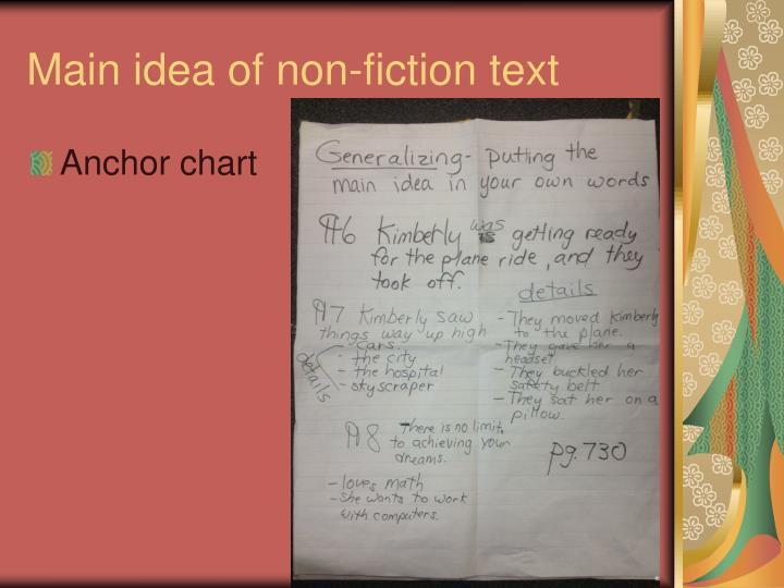 Main idea of non-fiction text