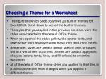 choosing a theme for a worksheet2