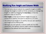 modifying row height and column width2