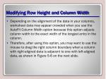modifying row height and column width4
