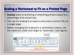 scaling a worksheet to fit on a printed page