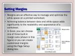 setting margins