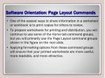 software orientation page layout commands