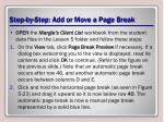 step by step add or move a page break