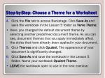 step by step choose a theme for a worksheet1