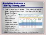 step by step customize a theme by selecting colors2