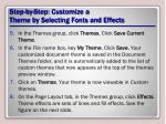 step by step customize a theme by selecting fonts and effects2