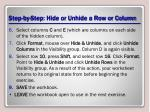 step by step hide or unhide a row or column2