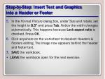 step by step insert text and graphics into a header or footer1