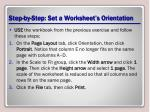step by step set a worksheet s orientation2