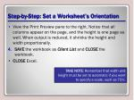 step by step set a worksheet s orientation3