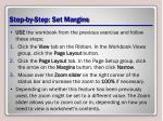 step by step set margins