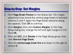step by step set margins1