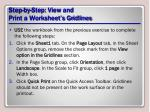 step by step view and print a worksheet s gridlines