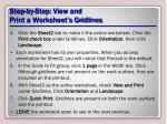 step by step view and print a worksheet s gridlines1