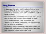 using themes