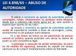 lei 4 898 65 abuso de autoridade5