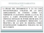 investigaci n narrativa