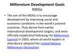 millennium development goals mdgs