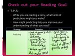 check out your reading goal
