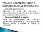 valores organizacionais x responsabilidade empresarial1