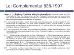 lei complementar 836 1997