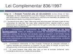 lei complementar 836 19972