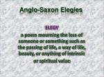 anglo saxon elegies