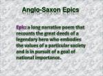 anglo saxon epics