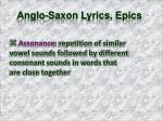 anglo saxon lyrics epics