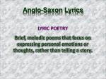 anglo saxon lyrics