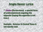 anglo saxon lyrics7