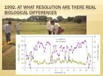1992 at what resolution are there real biological differences