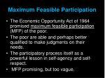 maximum feasible participation