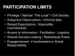 participation limits