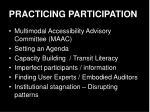 practicing participation
