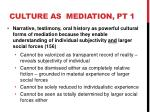 culture as mediation pt 1