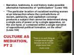 culture as mediation pt 2