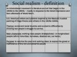 social realism definition