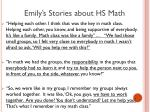 emily s stories about hs math