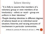 salient identity
