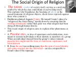 the social origin of religion