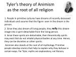 tyler s theory of animism as the root of all religion