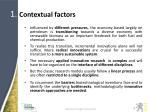 1 contextual factors