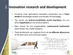 2 innovation research and development