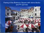 paving of the boskovic square with stone blocks and pv pannels4