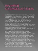 iniciatives solidaries acollida